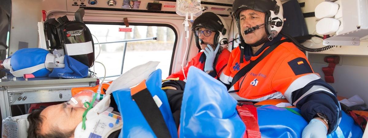 Traslado paciente en helicóptero